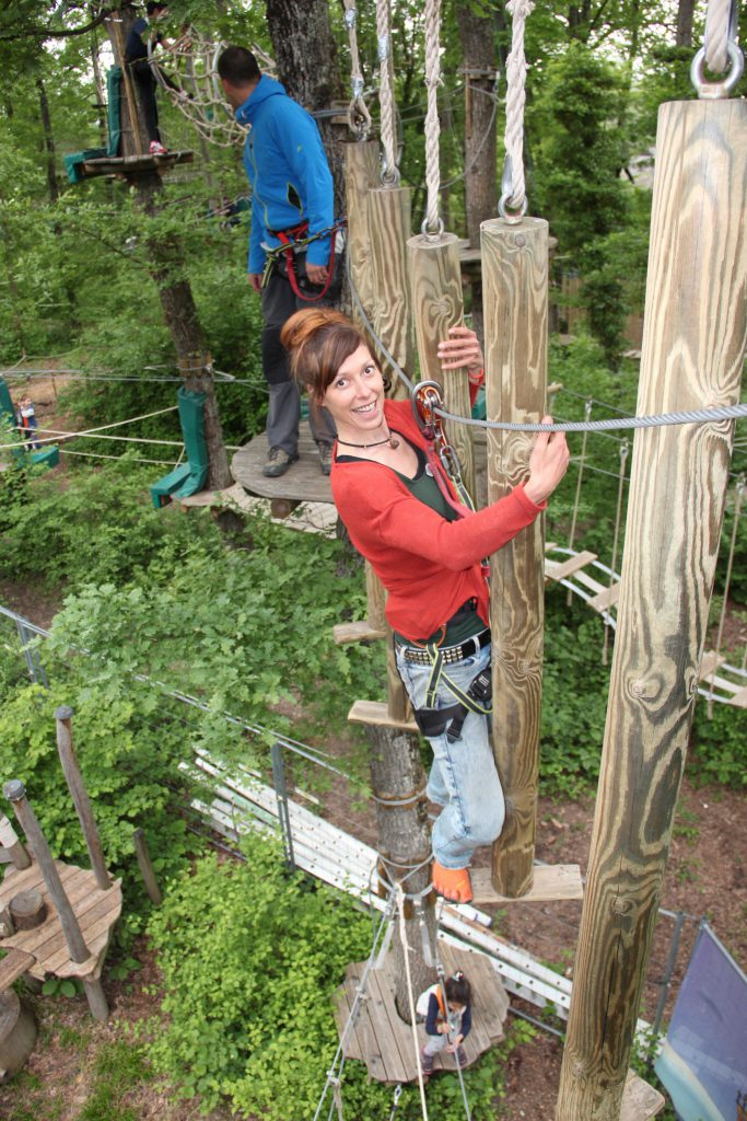 Treetop adventure park in Geneva
